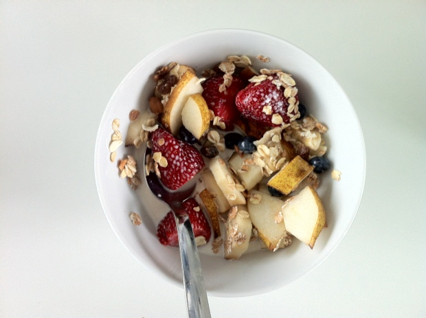 German Muesli with fresh fruit