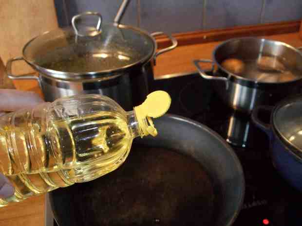 frying with sunflower oil